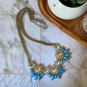 Francesca's • Blue and Jewel Statement Necklace